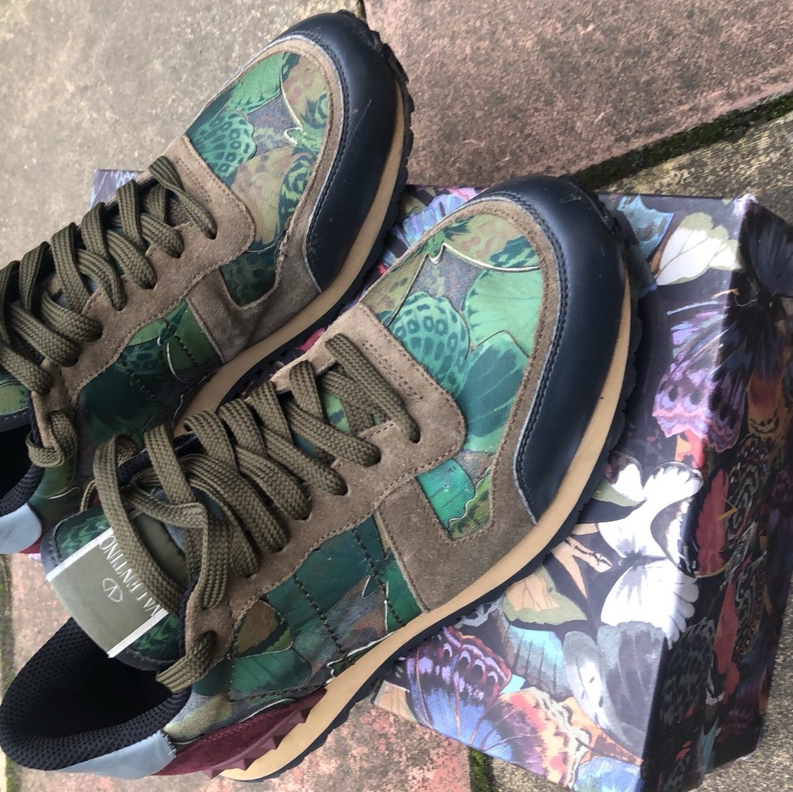 Men's Valentino Camo Butterfly trainers