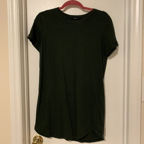 cd501ab0f3d4 Dark Green T-shirt Dress from Forever 21! A little tight but - Depop