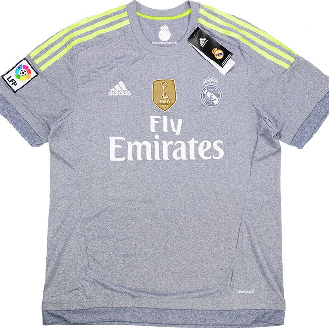 info for 53721 61edb Real Madrid 2015/16 away kit, genuine replica shirt... - Depop