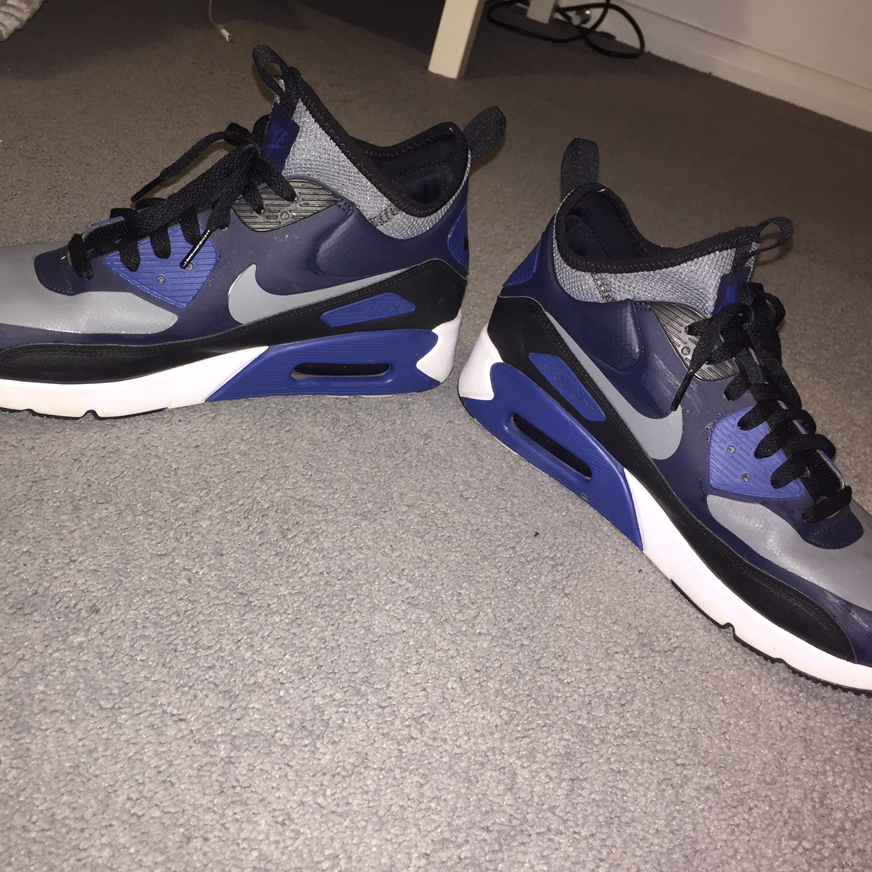 Nike air max 90 ultra mid winter blue Worn once Depop