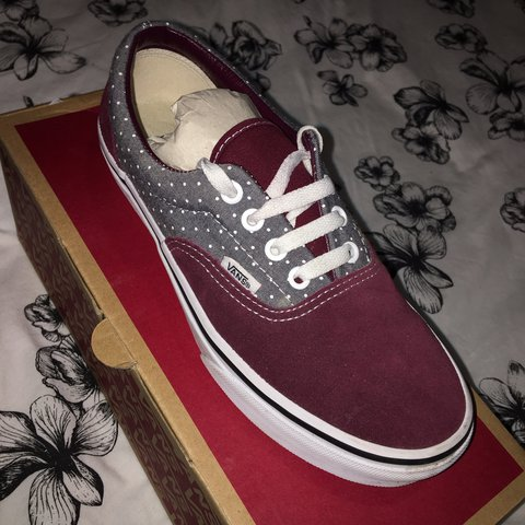 4df588a116 ❗ PRICE DROP ❗ Vans Authentic Era shoes. Burgundy and in - Depop