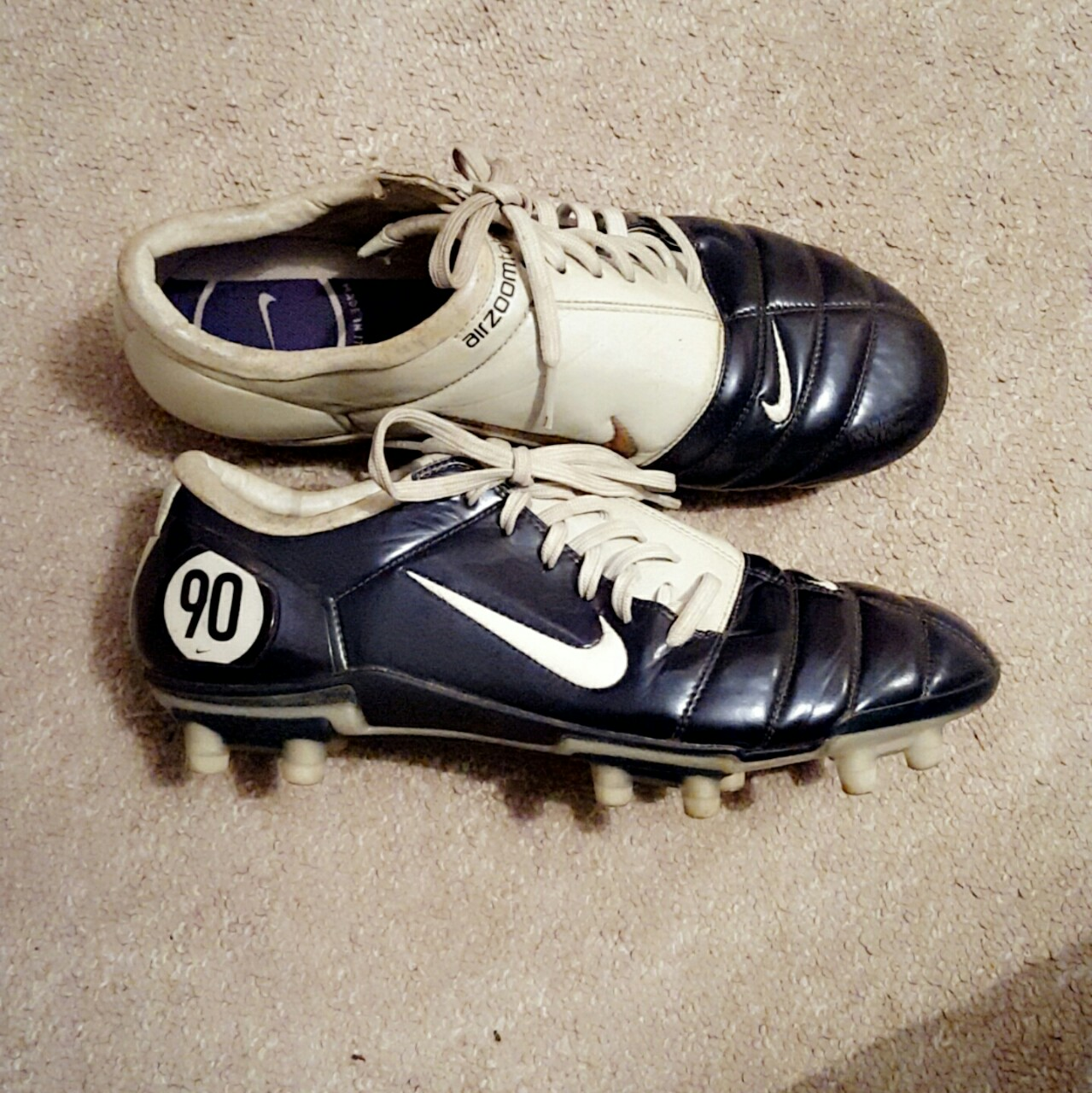 new concept 18cdc 92900 NIKE AIR ZOOM TOTAL 90 III FOOTBALL BOOTS. SIZE 9 ...