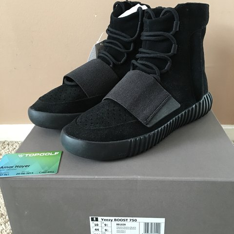 0ed10f0ca4e0d Adidas Yeezy Boost 750 Triple black. Brand new in box with - Depop
