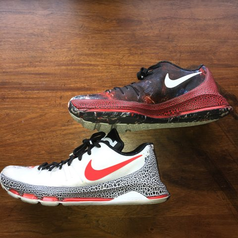 "a9158fed0c0f Nike KD 8 ""Fire and Ice"" (Christmas Edition) 8 10 No 12  kd - Depop"