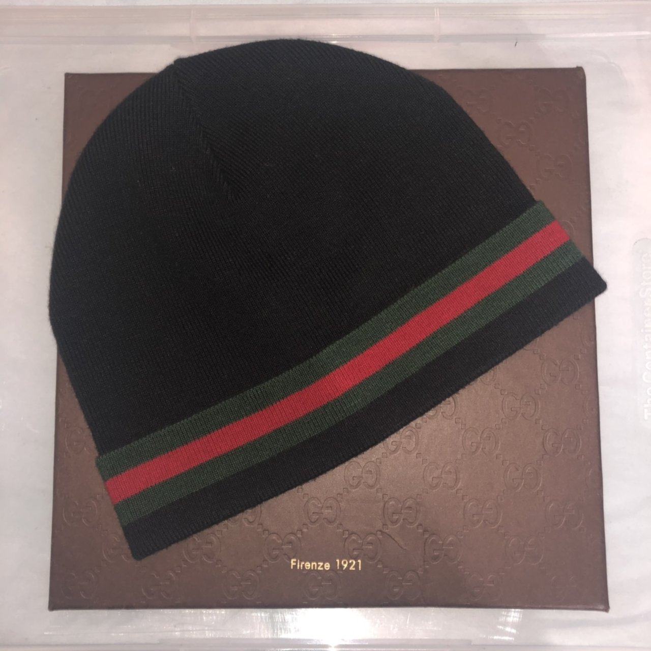 Pre owned. Unisex Gucci Skully Hat with Signature Stripe - Depop 0cb0ce080d0