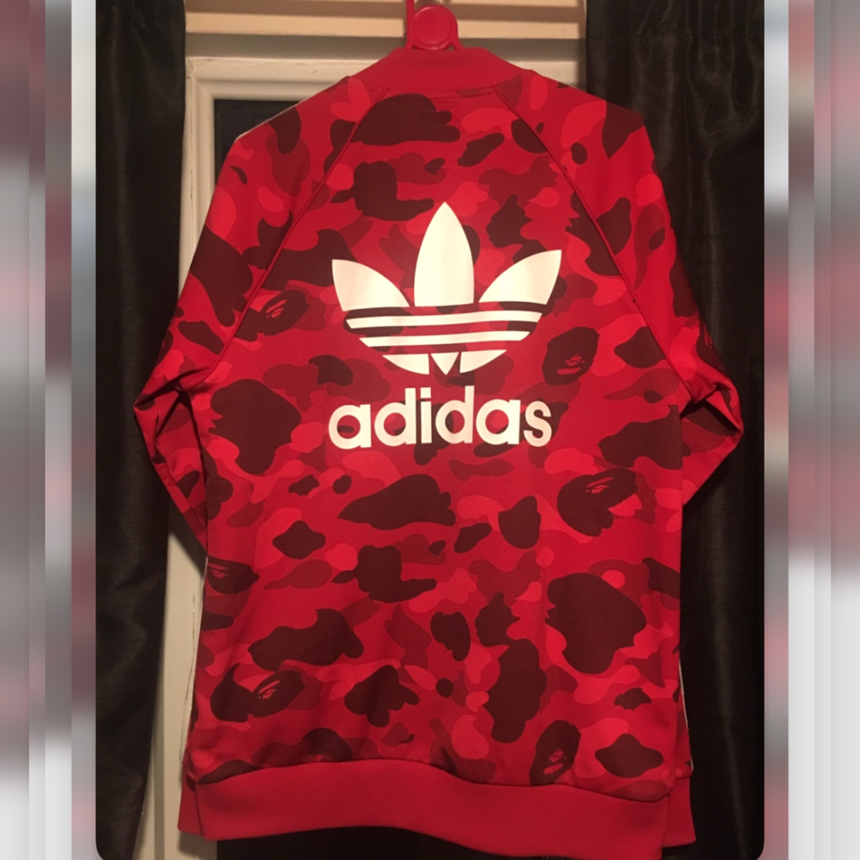 5e46890d BAPE x adidas Track Top SMALL 9/10 condition *SUPER... - Depop