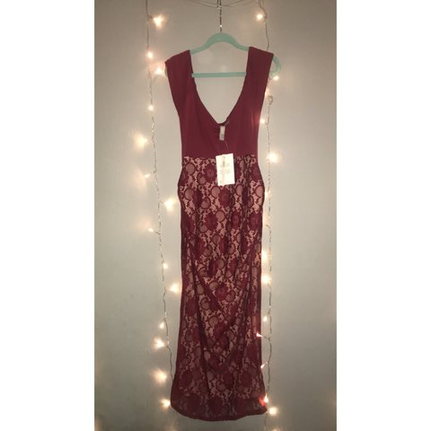 b7ca09a96e305 Burgundy cut out floral maternity dress *From 8 *10/10 - Depop