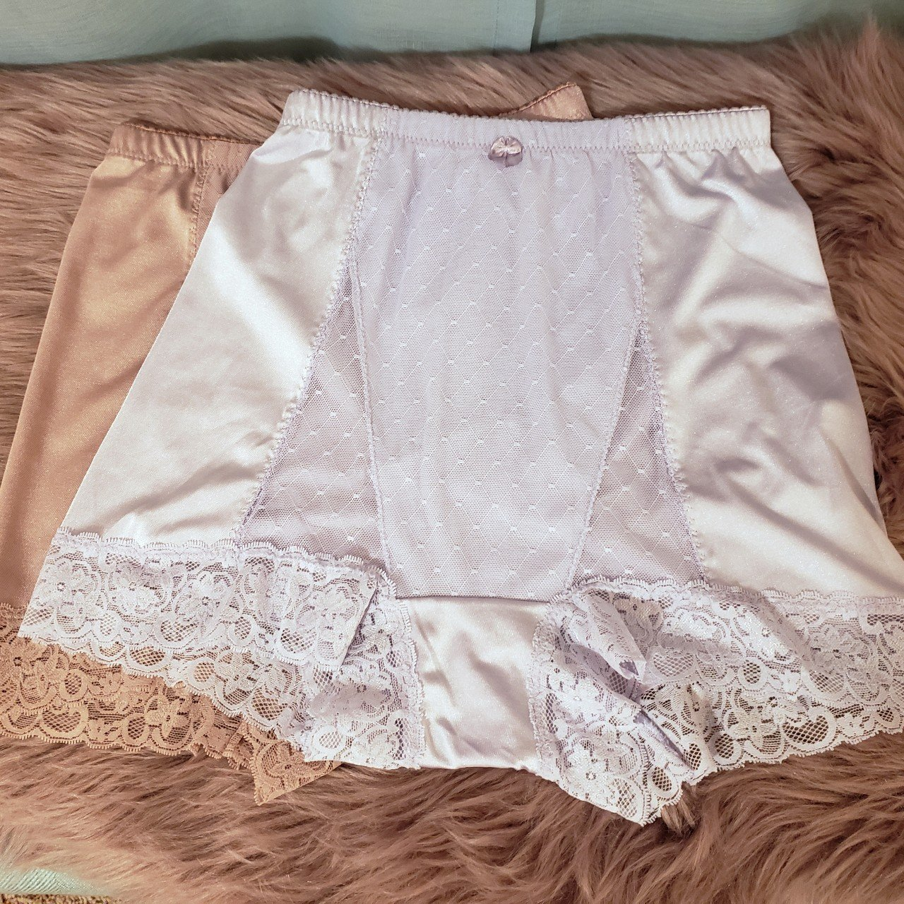 7500696564 Vintage looking high waisted underwear with lace panel and 2 - Depop