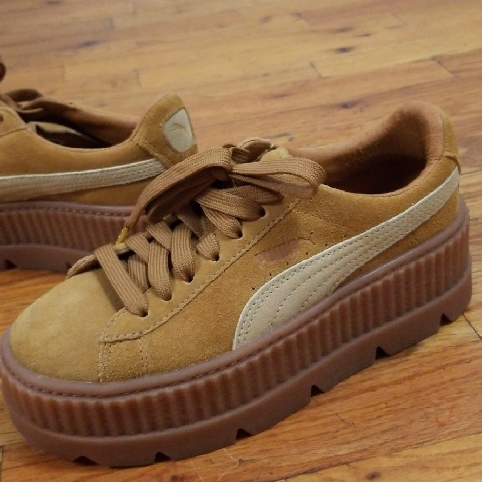 the latest b590d 5ae48 Tan Fenty Puma Creepers.| Condition: Like New |... - Depop