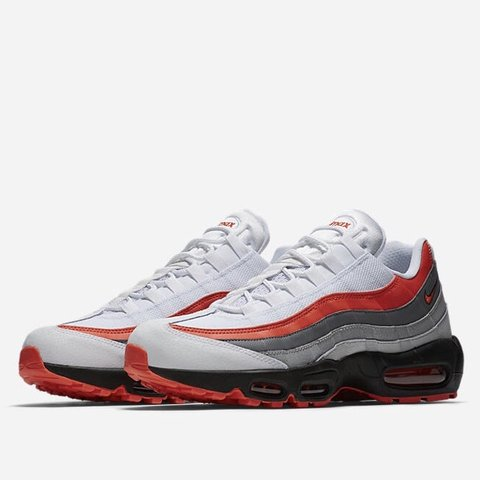 86a8eff0e8 @kinobecollection. 6 months ago. Cleveland, United States. Buy Brand New! Nike  Air Max 95 Essential White/Black/Pure Platinum/Bright Crimson Available Men  ...