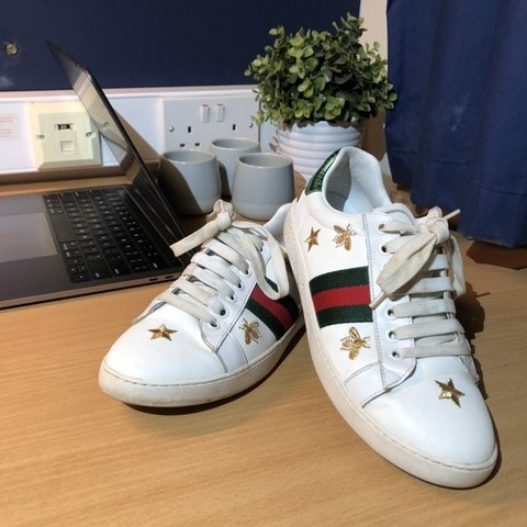 496a862c0 Gucci Ace Sneakers £225 Bees and stars, very rare RRP: Some - Depop