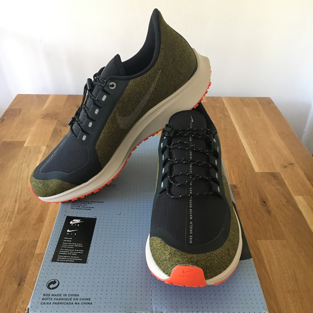 Nike Air Zoom Pegasus 35 Shield Black olive green Depop
