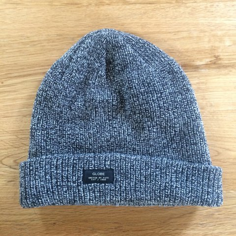 38f74ff64b4 GLOBE Halladay Australia grey knitted skater beanie with In - Depop