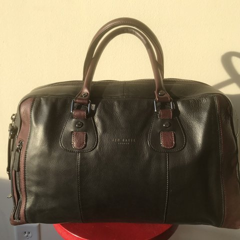 b1656ebdc890 Black and burgundy Ted Baker work travel bag. Authentic. and - Depop