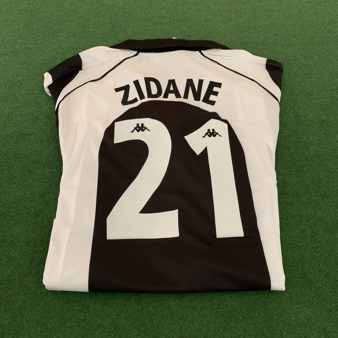 Retro Juventus Football Shirt Zidane 21 On The Depop