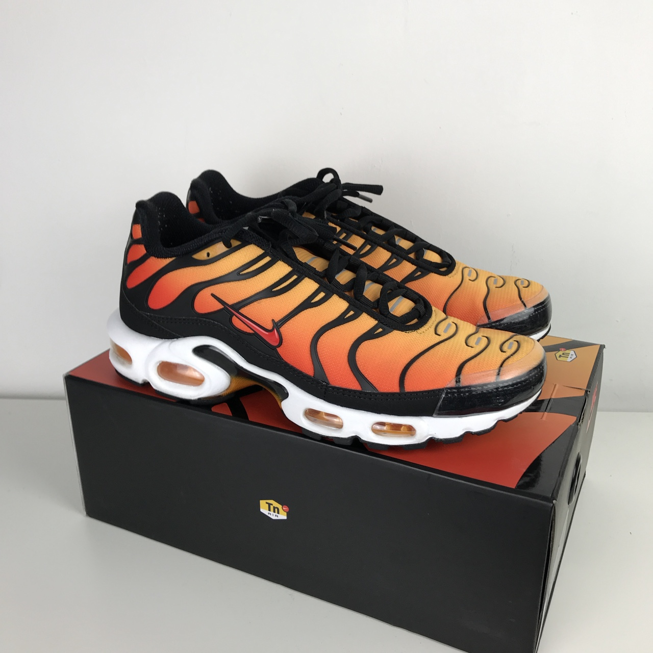 new concept 9c029 d6425 Nike Air Max Plus TN. Tiger/Sunset colourway, 2018... - Depop
