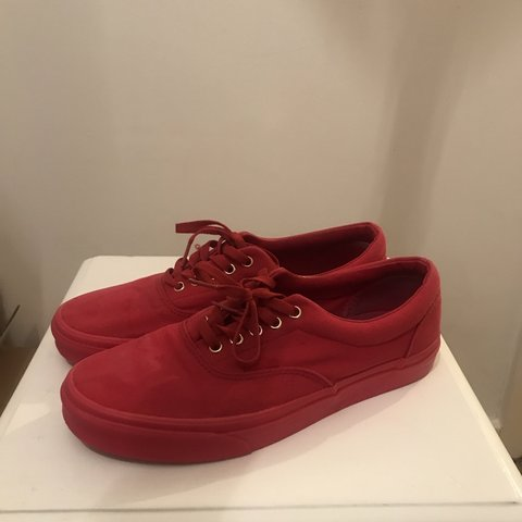 08acbf91ca20 All red vans for sale. Red fabric red sole red laces. No a - Depop