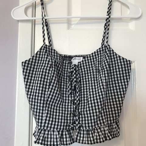 fca0b1f75c2 @shayytran. 3 months ago. Fountain Valley, United States. Tilly's BLACK AND WHITE  PLAID CROP TOP