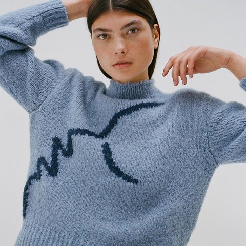 Bnwt Sold Out Paloma Wool Virgo Jumper One Size Depop