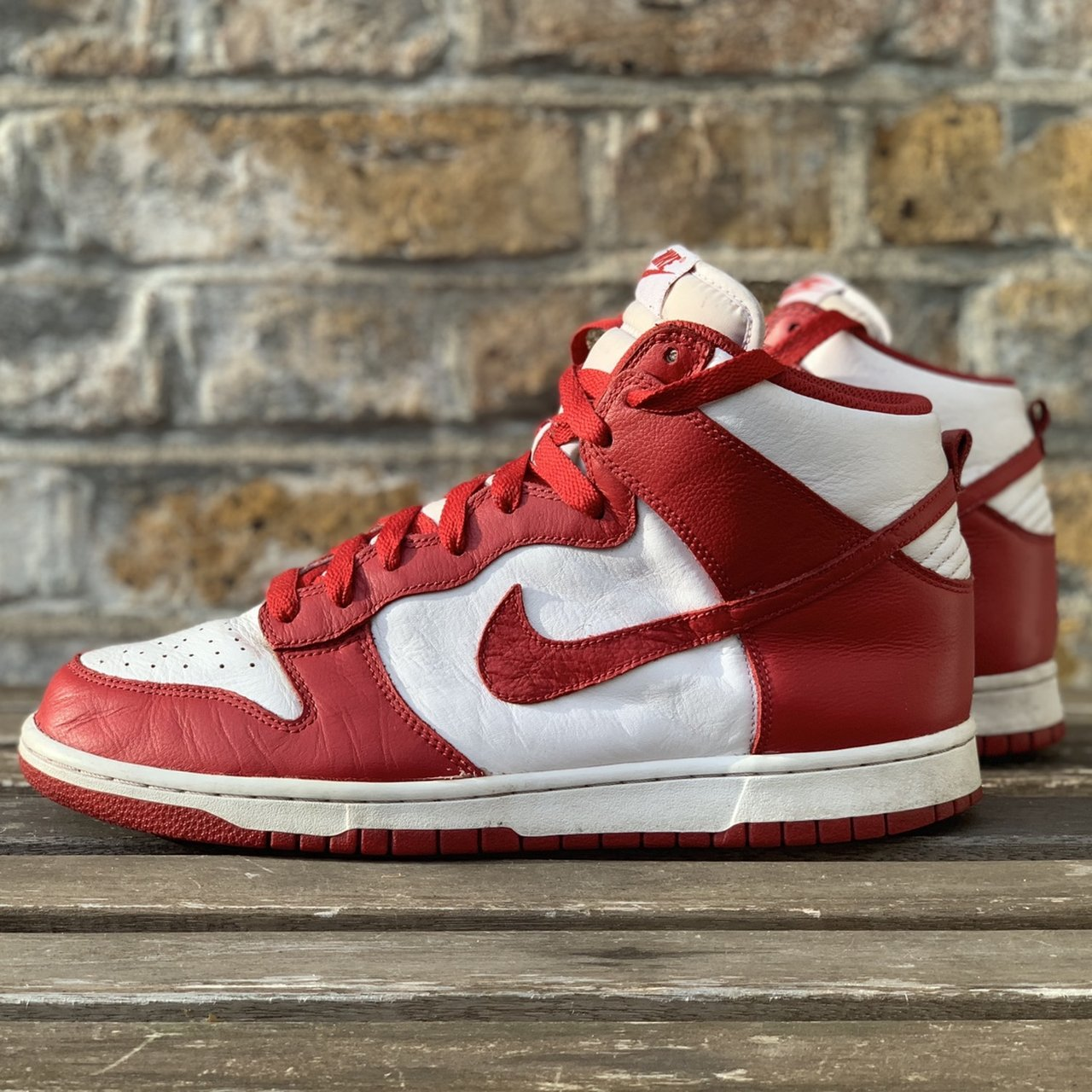 more photos c07fc 08642  cyberbolt. last month. London, United Kingdom. Nike Dunk High Be True to  Your School Red ...