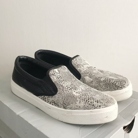 Topshop snake print slip on trainers