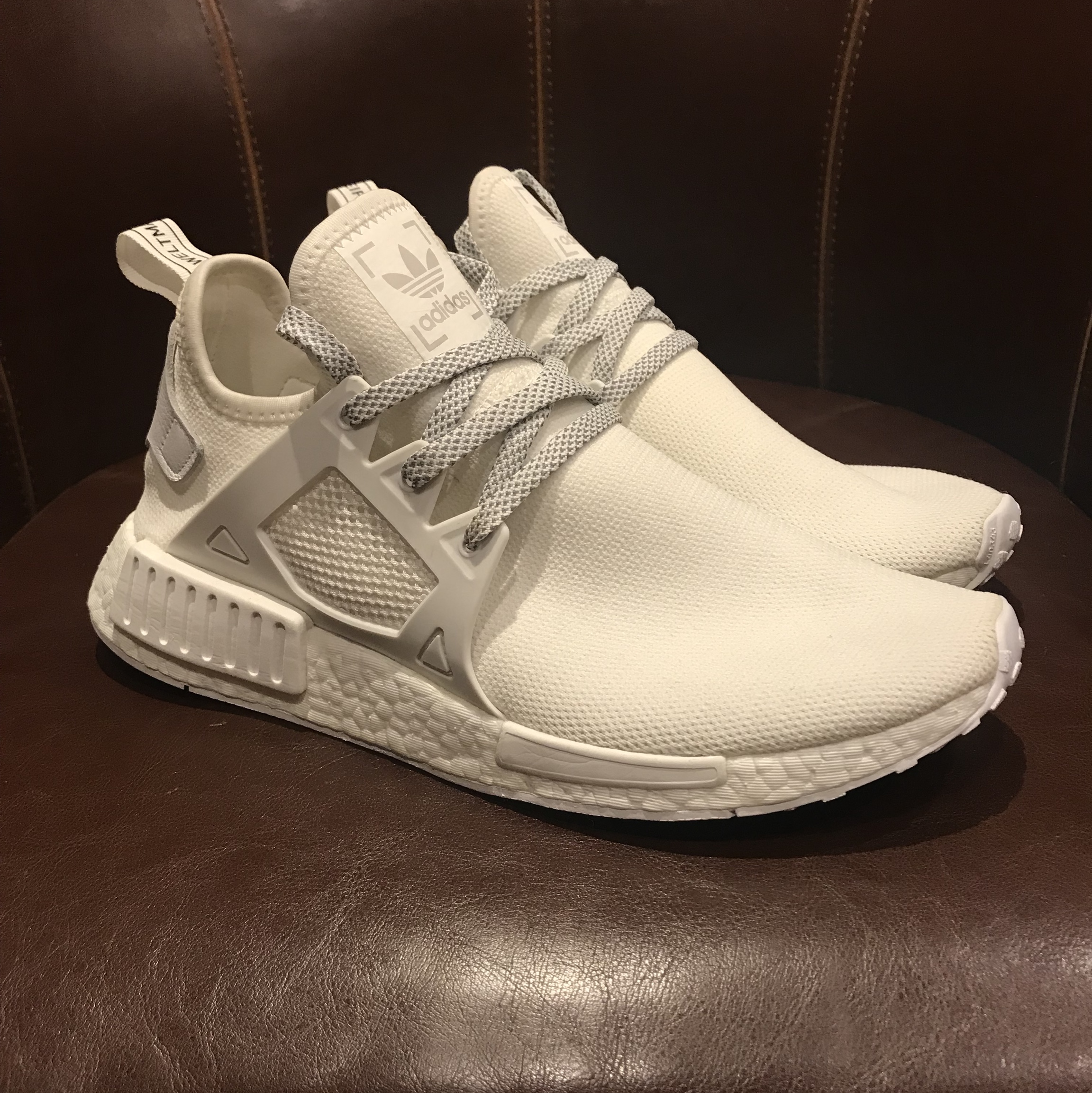 Adidas Nmd Xr1 Triple White With Box Worn A Couple Depop