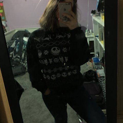 Hot Topic Nightmare Before Christmas Sweater.Listed On Depop By Honeyroastedtrashbins