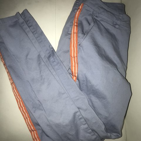 54d0e480aa This is for an orange crime stripe set of blue pants. They a - Depop
