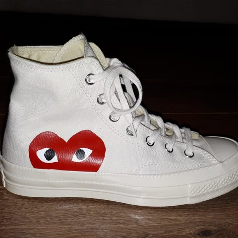 5685faed34bb Converse Play x Comme Des Garcons high top trainers. BRAND - Depop