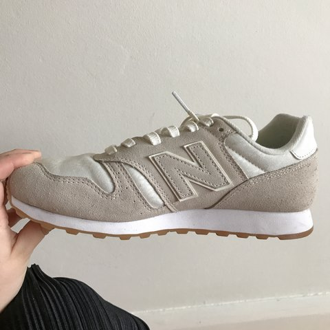 buy online 169dd 71ae2  jemmapaxman. last year. Southend-on-Sea, United Kingdom. New Balance 373  Suede Nude Cream Trainers ...