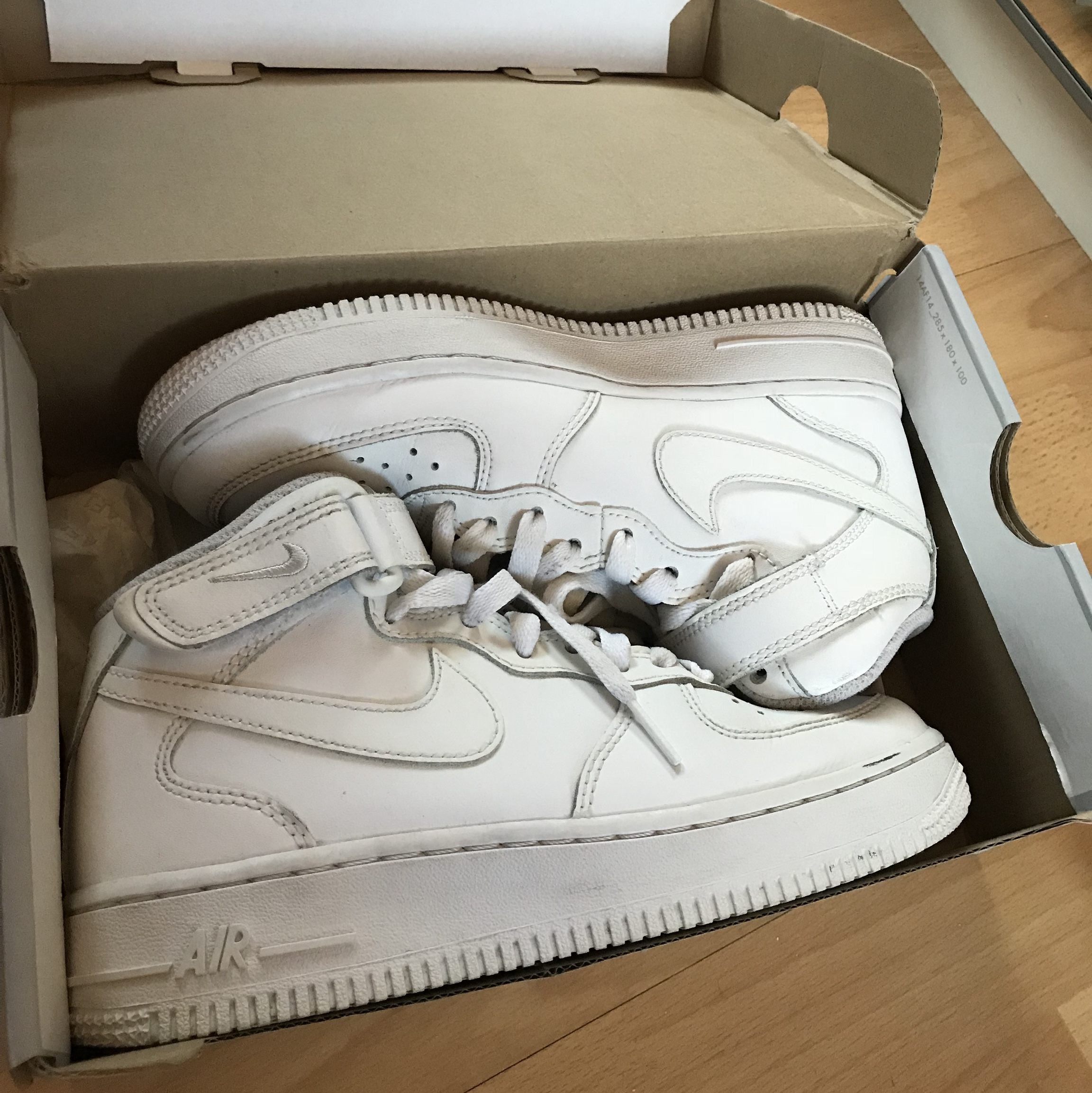 SIZE 4 White Nike High Top Air Force 1