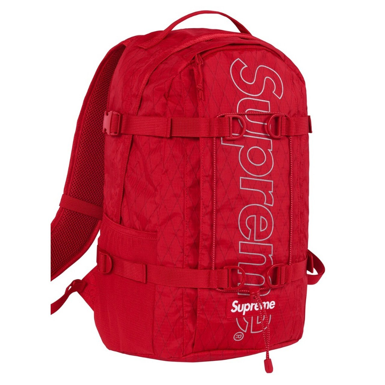 bd7831a9674 Supreme Backpack (FW18) Red - NEW Authentic! Brand new from - Depop