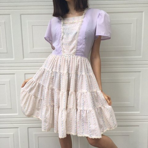 b9f9052aa4 Adorable girly vintage prairie dress from the 50s or 60s by - Depop