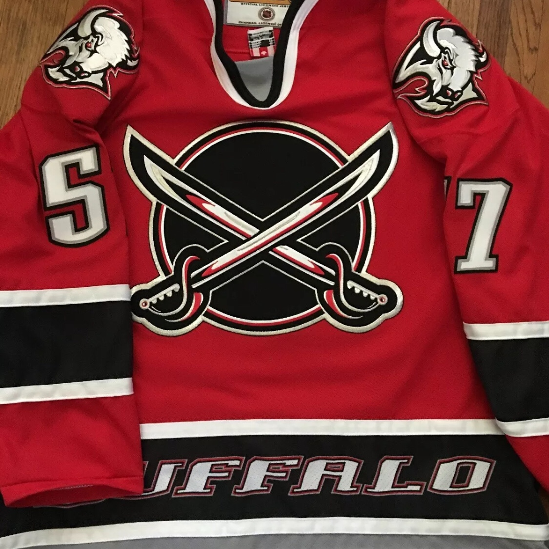 on sale d1718 c9d92 RARE Buffalo Sabres red alternate jersey. Steve... - Depop