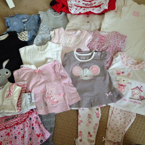 Set Of 3 6 Month Baby Girls Outfits Perfect Condition