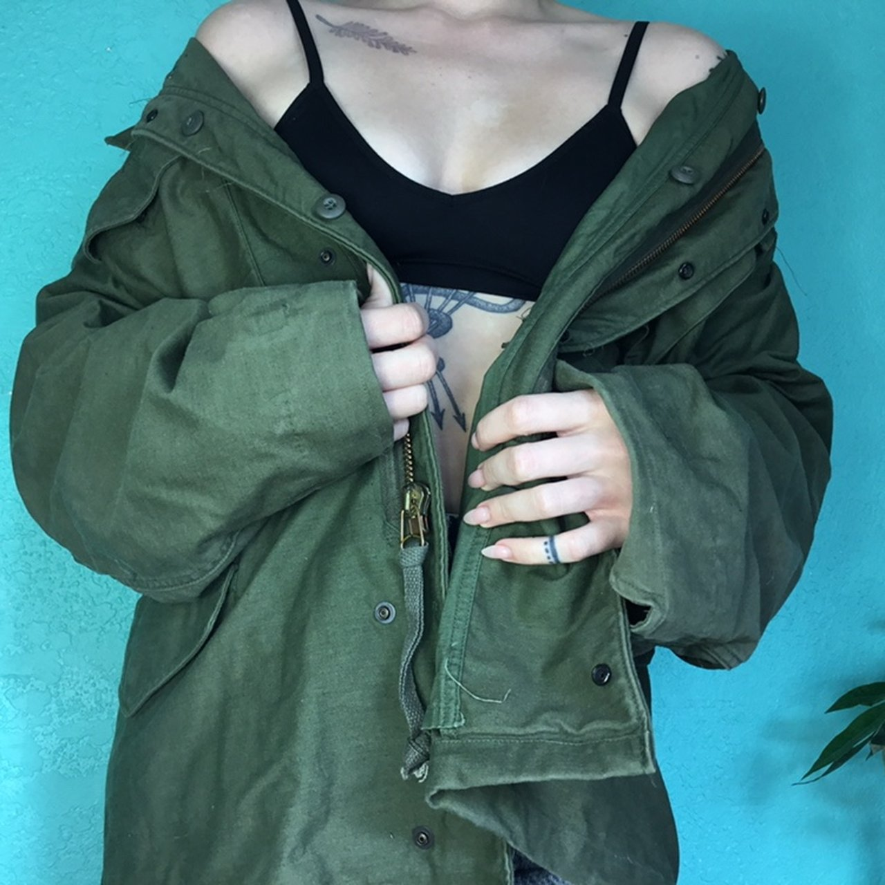 Military Coat Olive Colored Warm As Hell Army Jacket With Depop