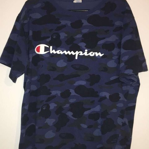 313ceabd9 @m_ate. 6 months ago. Hinckley, United Kingdom. Bape X Champion T-Shirt /  Size XXL but fits like medium / 9/10 condition ...