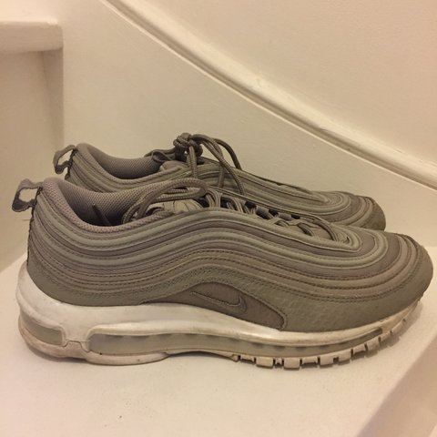 9f34c7b121f93a nike air max 97 cobblestone   grey. good condition. no marks - Depop