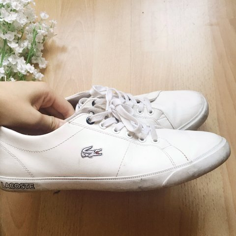 6d668c9adbec Lacoste white trainers sneakers shoes 🌿 UK 5   lovely basic - Depop