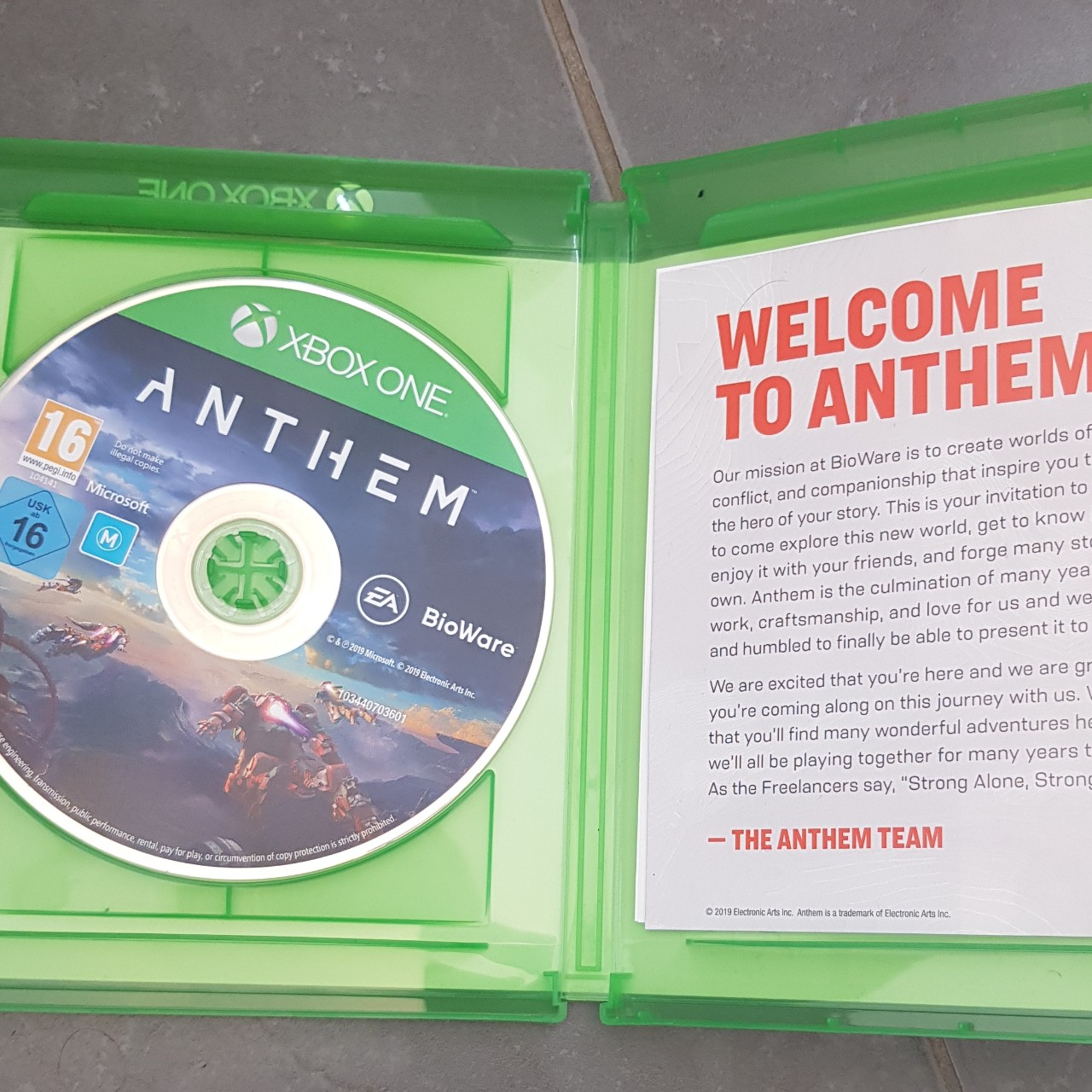 Anthem for Xbox One  Brilliant Game  Case and Disk    - Depop