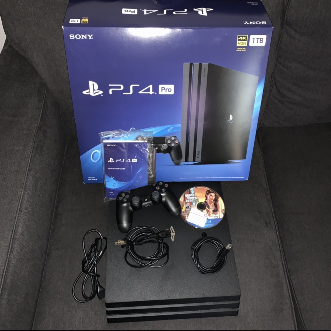 PS4 PRO  BRAND NEW LIGHTLY USED  Comes with GTA