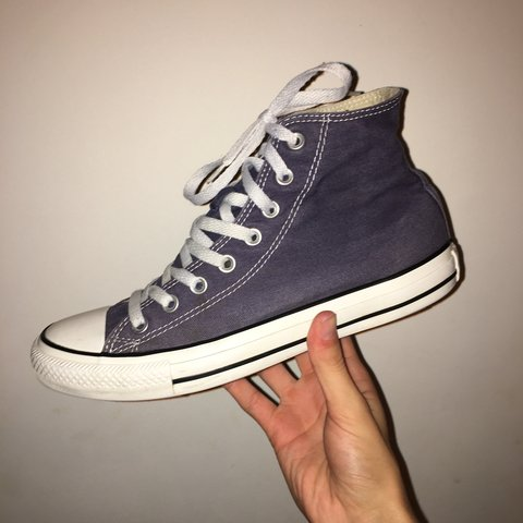 6f6fc95618cd Converse High Top Trainers. Colour  Navy. Size 8. Worn with - Depop