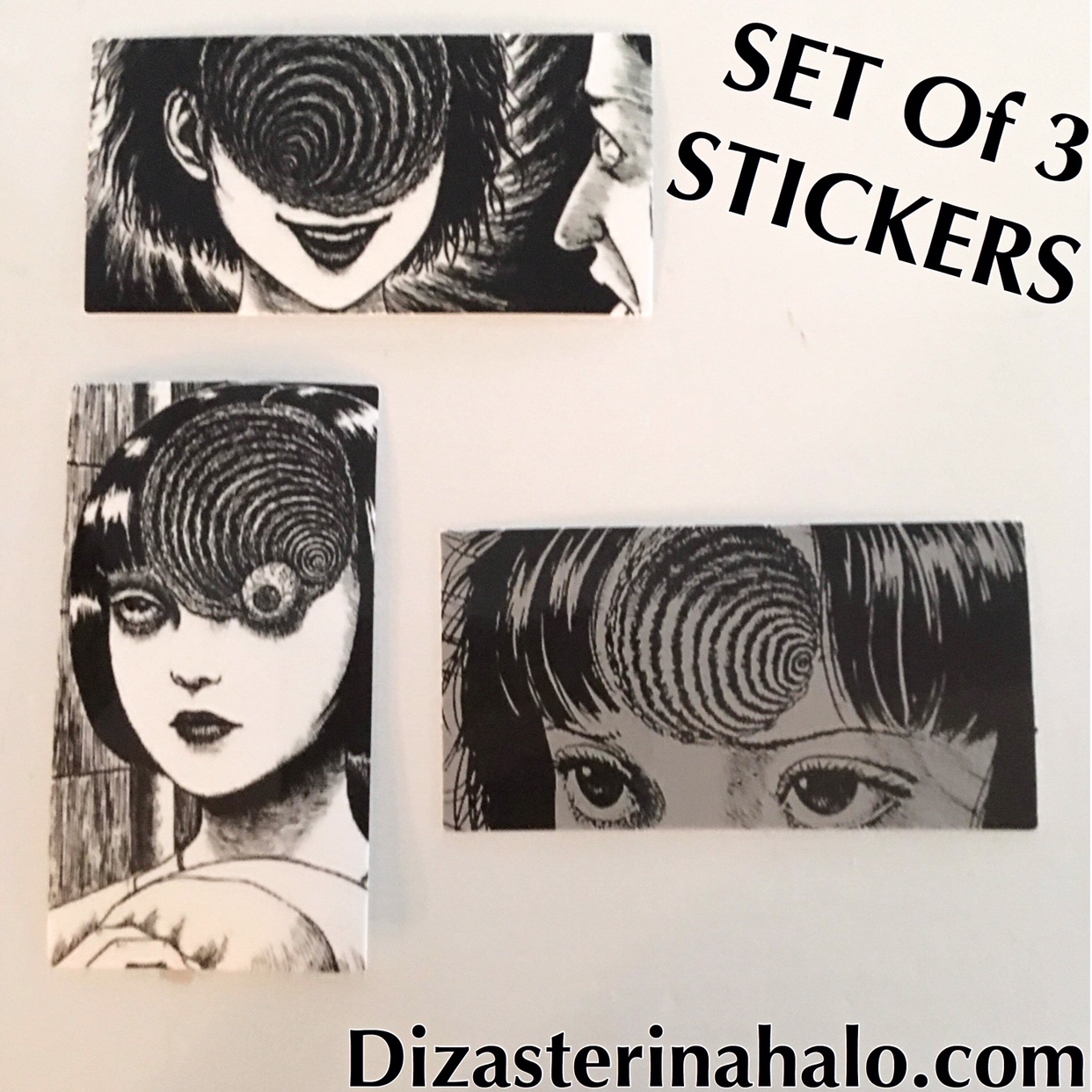 3 Anime Horror Stickers Size 3X3 Inches  #japan    - Depop