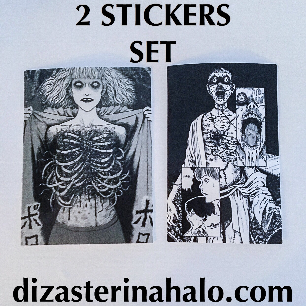 2 Anime Horror Stickers  Shipping with tracking    - Depop