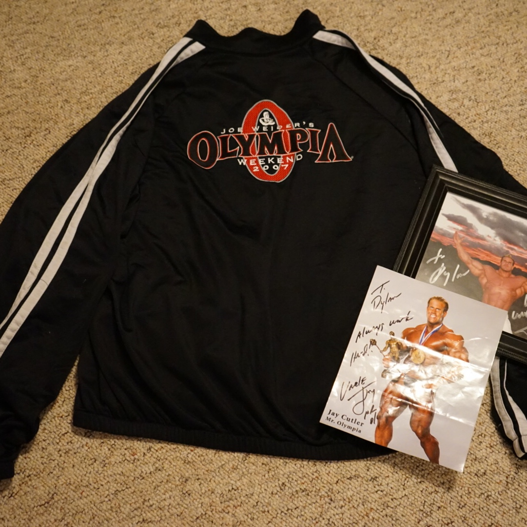d35e645f9 4x Mr. Olympia Jay Cutlers actual Olympia jacket... - Depop