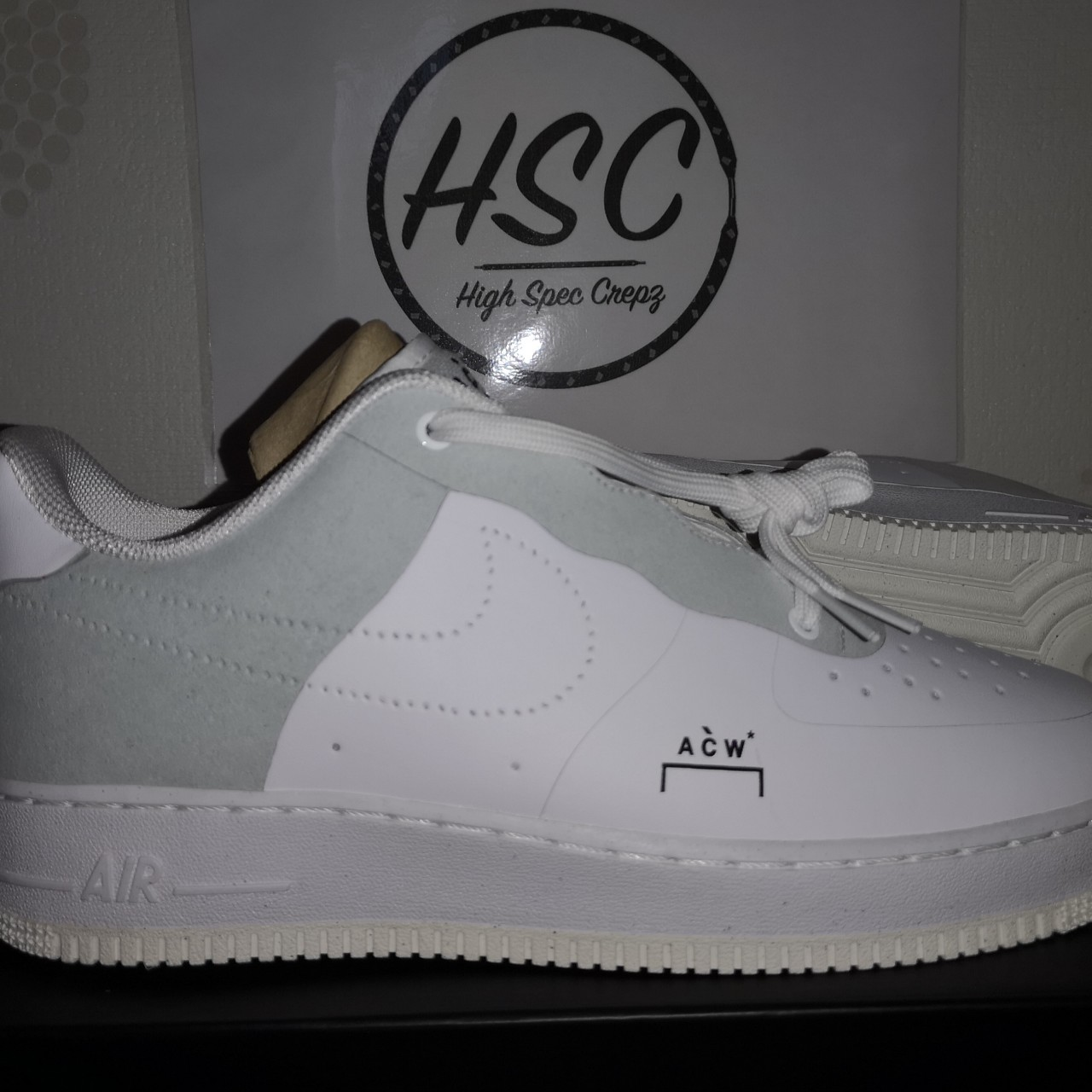 buy popular 49877 ad4fa Nike Air Force 1 A Cold Wall ACW AF1 White/Grey UK 9 ...