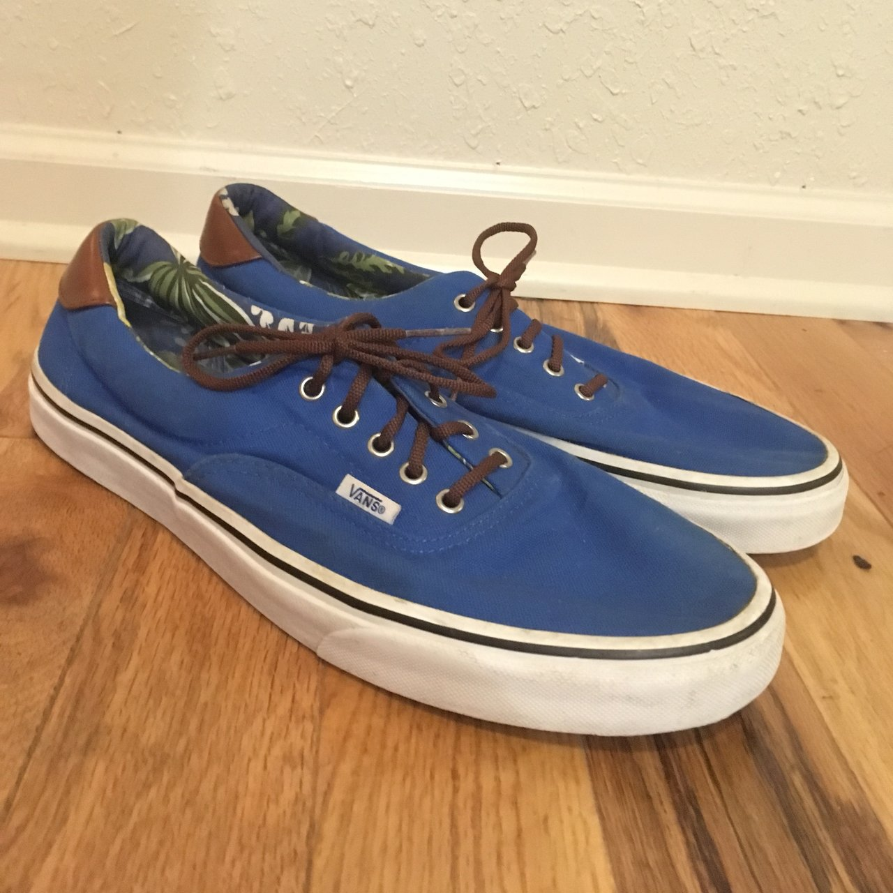 Men s Blue Vans Size  13 Condition  7 10 Used condition. - Depop b3f2fac05
