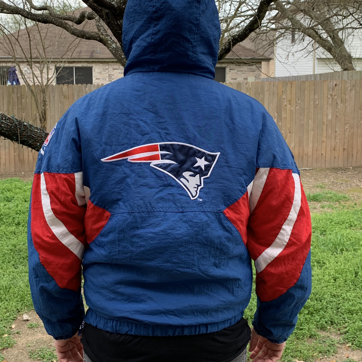 competitive price 0095a 98aca FREE SHIPPING ‼️ 🏈 Vintage Patriots Starter Jacket... - Depop
