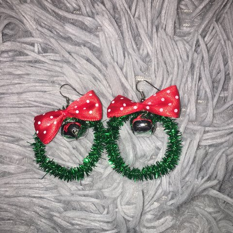 Christmas Wreath Earrings Have Never Been In Time Depop