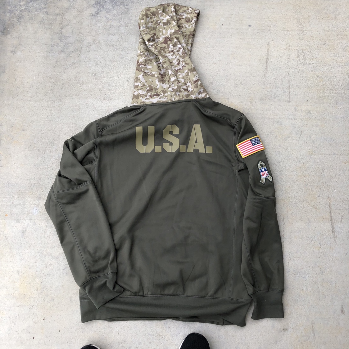 new concept 1183a 49dd8 Philadelphia Eagles Salute to Service Nike Hoodie... - Depop